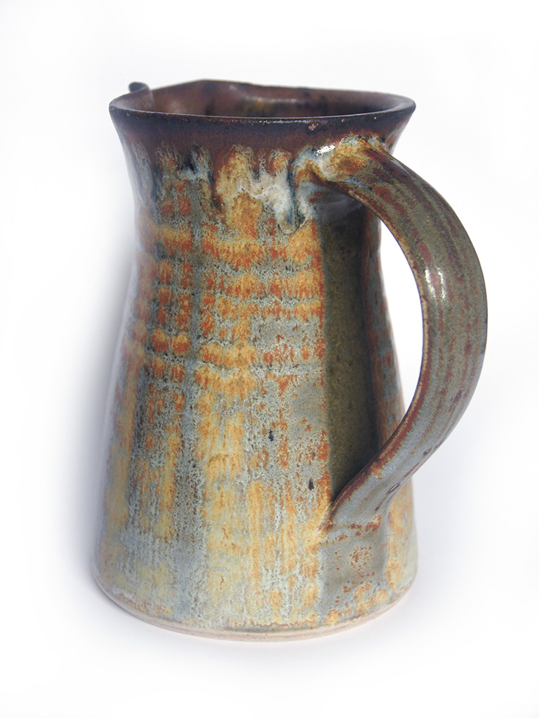 jug with rutile brushed over glaze