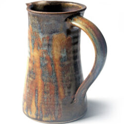 jug with rutile brushed over glaze 174mm